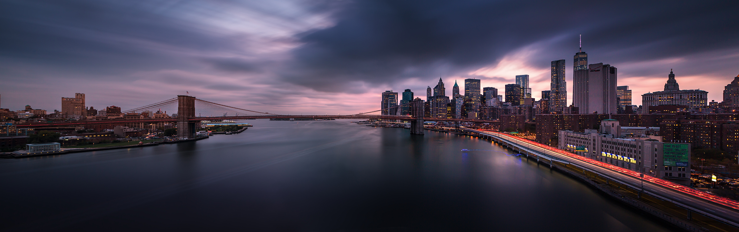 Manhattan Sunset Panorama