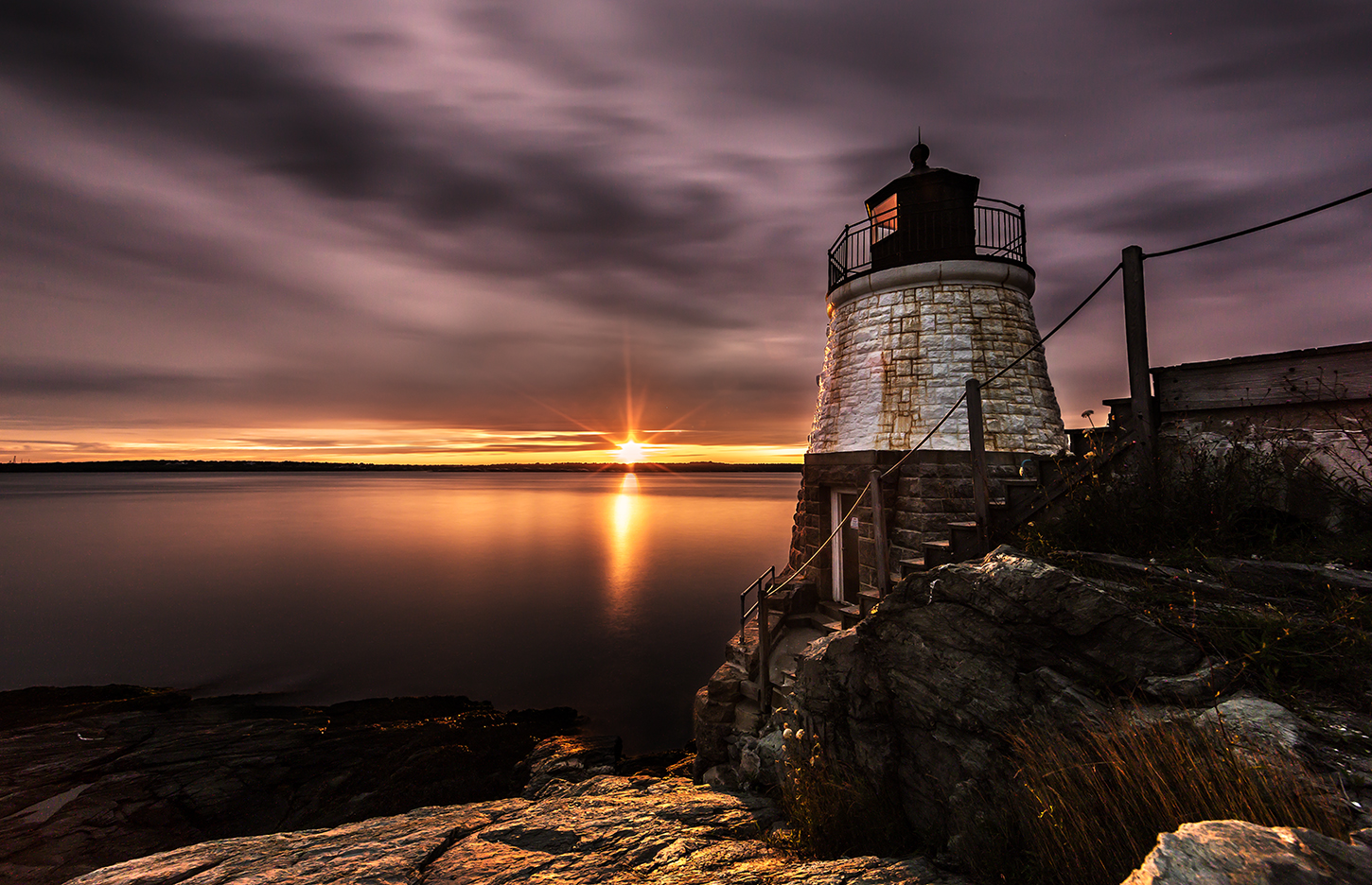 Castle Hill Lighthouse Sunset 04