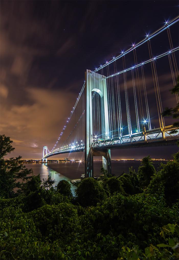 Verrazano-Narrows Bridge at Night » Edward Reese Photography