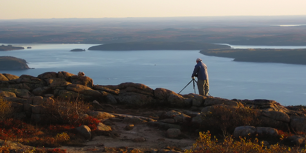 Edward Reese at Cadillac Mountain