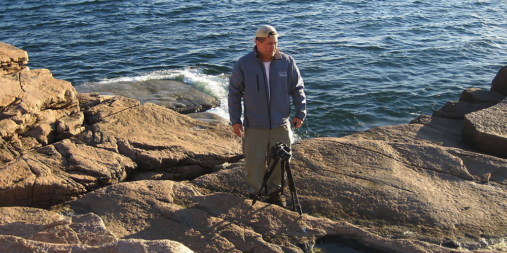 Edward Reese at Acadia National park