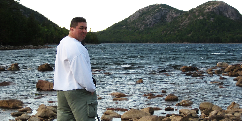 Edward Reese at Jordan Pond in Acadia National park