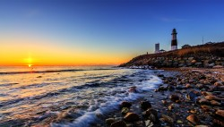 Montauk Lighthouse at Sunrise