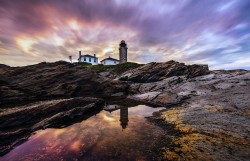 Beavertail Lighthouse Early Morning