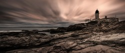 Beavertail Lighthouse Panorama